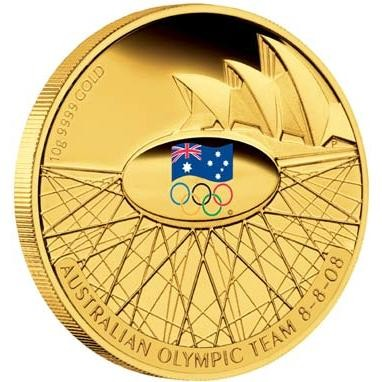2008 Australian Olympic Team 10g Gold Proof Coin  AC