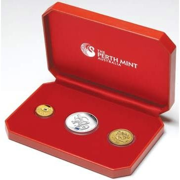 2008 Australian Olympic Team Three-Coin Set AC