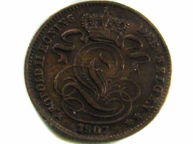 1907 BELGIUM 1 CENTIMES COIN CO 429