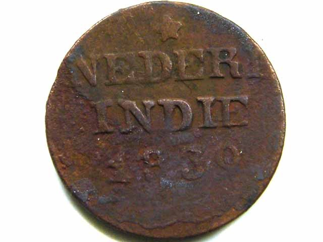 1830 DUTCH ONE CENT COIN  CO 432
