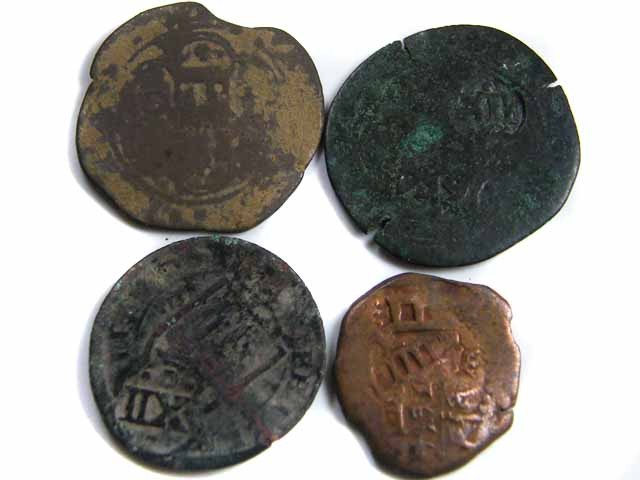 FOUR SPANISH COINS 1622     COIN   J 705