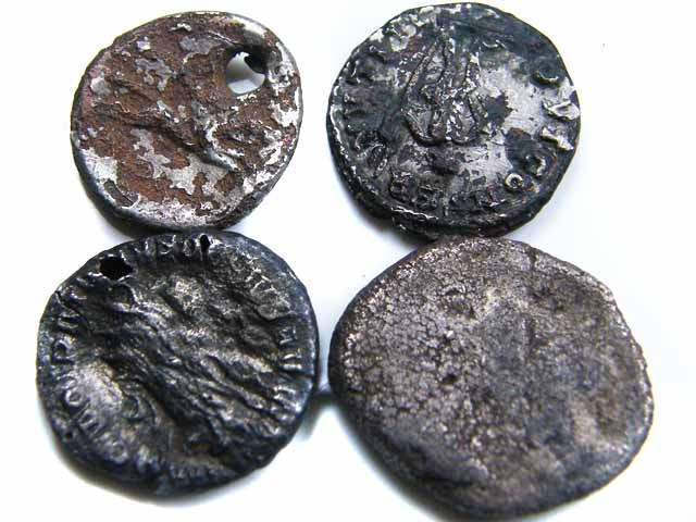 MYSTERY PARCEL OF FOUR SILVER ROMAN COINS  JO 719