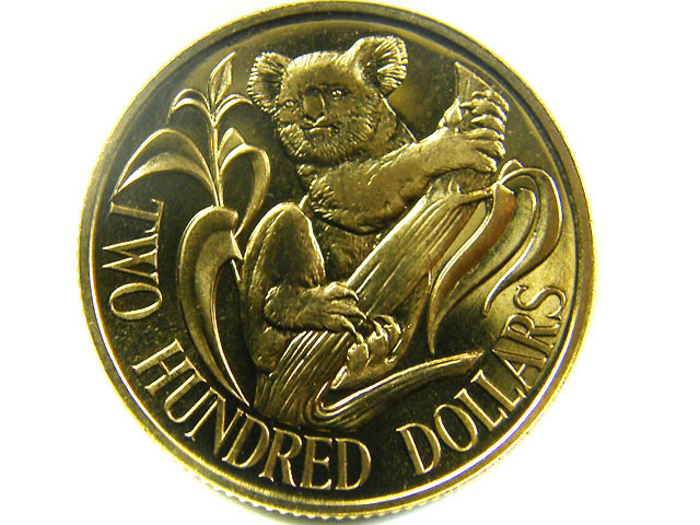 1985 UNCIRCULATED $200 GOLD COIN   CO 469