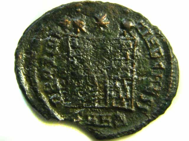 ANCIENT ROMAN  CAMP-GATE COIN  AC 539