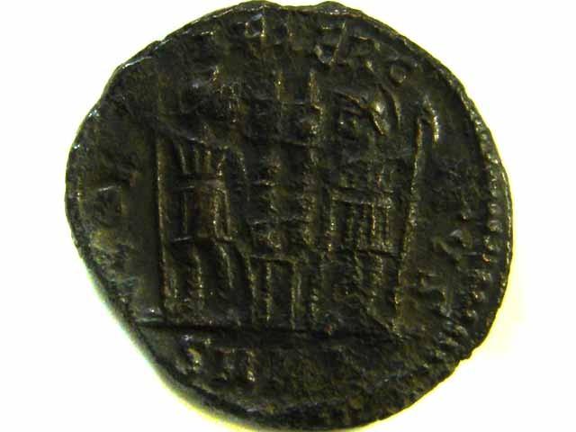 ANCIENT ROMAN  BRONZE FOLLE GLORIA EXERCITVS  COIN  AC 545