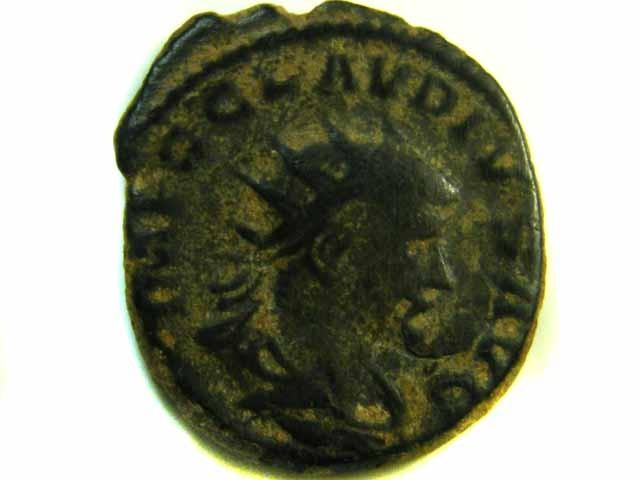 ANCIENT ROMAN  BRONZE   COIN  AC 574
