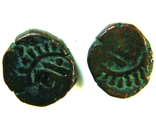GHAZNAVID BAHRAM 115-57 AD  2 COINS      OP 553