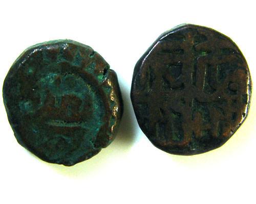 GHAZNAVID BAHRAM 115-57 AD  2 COINS      OP 556