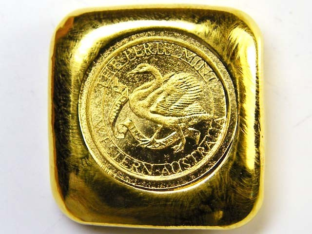 PERTH MINT ONE OUNCE GOLD BAR 99.99%