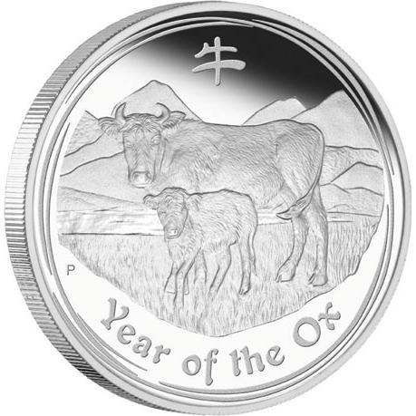 WED  Lunar Series II 2009 Year of the Ox Silver Coin