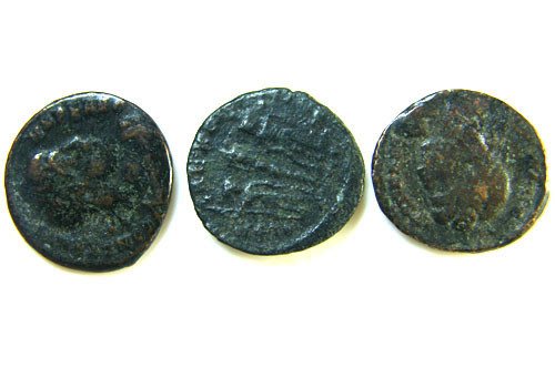 THREE PROVINCIAL ROMAN COINS         OP 644