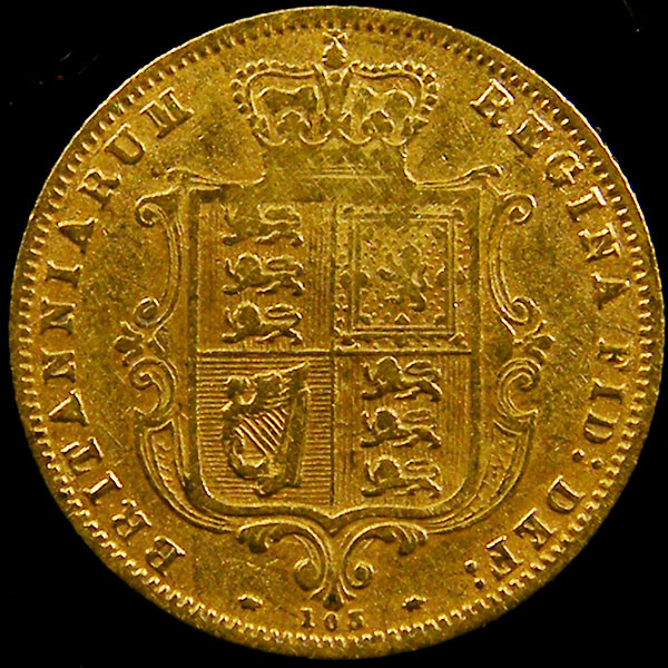 1877 HALF SOVERIGN  GOLD COIN DIE 105   CO603
