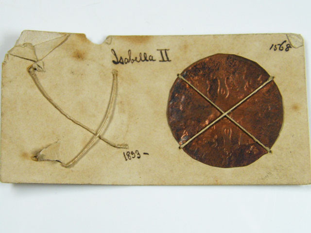 MUSEUM ARCHIVAL SPAIN ISABELLA DATED 1833   CO 615