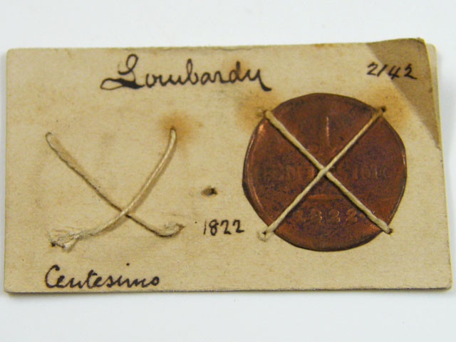 MUSEUM ARCHIVAL LOWBARDY CENTESIMO DATED 1822   CO  616