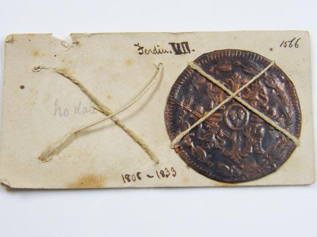 MUSEUM ARCHIVAL SPANISH  FERDINDAD V11DATED 1808-1833 CO 618