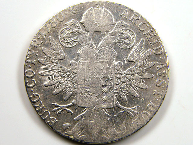 1780 Maria Theresa Silver Thaler Restrike Trade Coin CO 641
