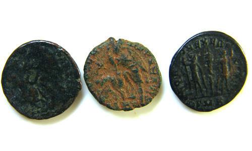 THREE PROVINCIAL ROMAN COINS         OP 652