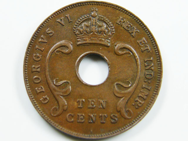 BRITISH EAST AFRICA 10 CENTS 1941  CO 6