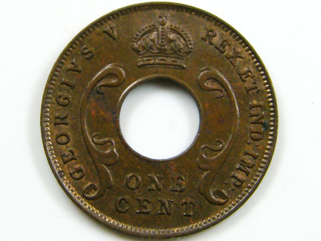 BRITISH EAST AFRICA 1927  ONE CENT COIN CO 659