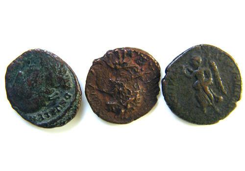 THREE PROVINCIAL ROMAN COINS         OP 657