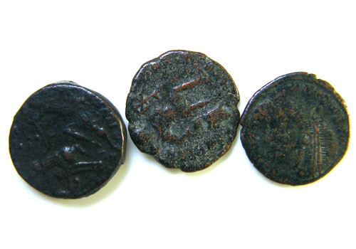 THREE PROVINCIAL ROMAN COINS         OP 658