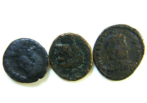 THREE PROVINCIAL ROMAN COINS         OP 662