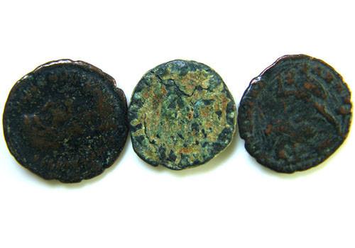 THREE PROVINCIAL ROMAN COINS         OP 663