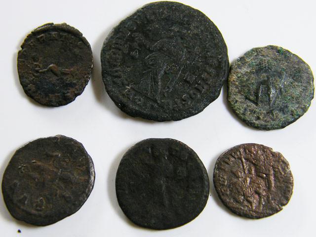 PARCEL 6 MIXED ANCIENT ROMAN COINS  AC 602