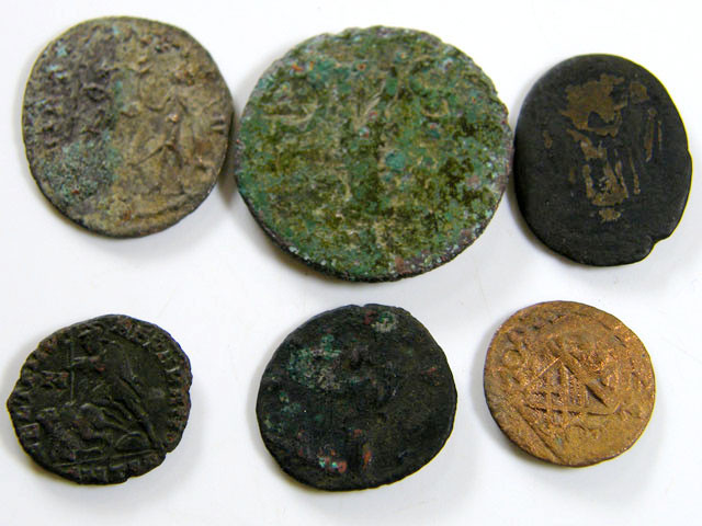 PARCEL6  MIXED ANCIENT ROMAN COINS  AC 610