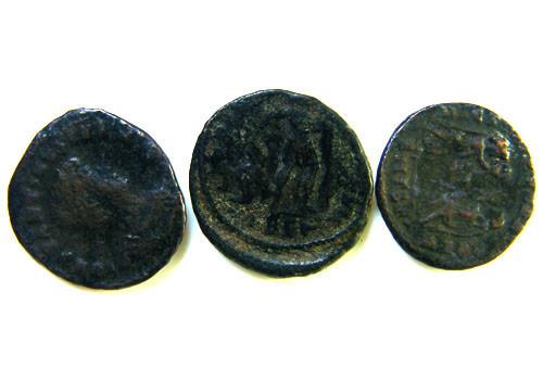 THREE PROVINCIAL ROMAN COINS         OP 664