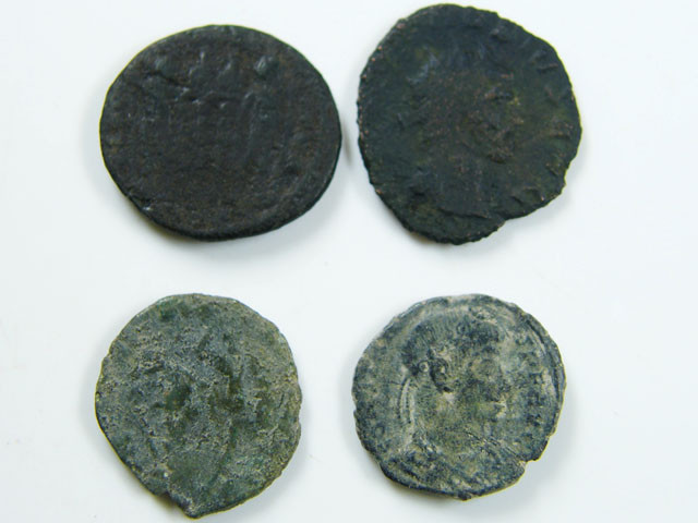 PARCEL 4 MIXED ANCIENT ROMAN COINS  AC 618