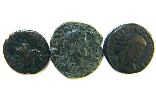 THREE PROVINCIAL ROMAN COINS         OP 669