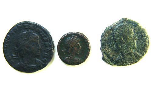 THREE PROVINCIAL ROMAN COINS         OP 673