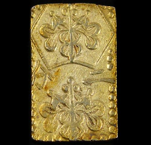 F MEIJI DYNASTY NIBUKIN  GOLD COIN 1868-1869     JCC 4