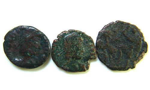 THREE PROVINCIAL ROMAN COINS         OP 675
