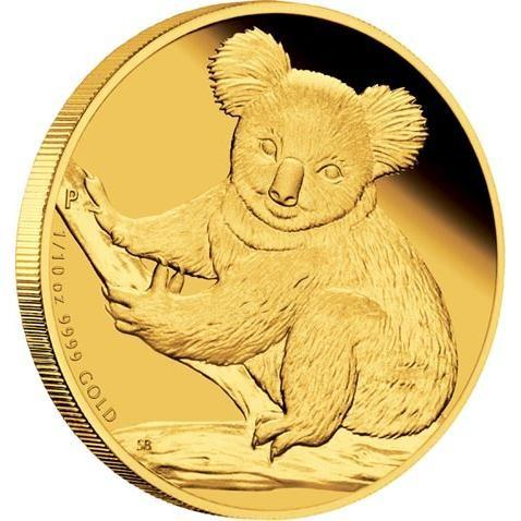 2009 AUSTRALIAN KOALA  1/25 GOLD PROOF COIN