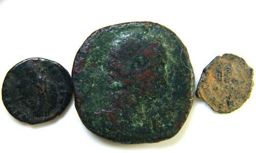 THREE PROVINCIAL ROMAN COINS         OP 677