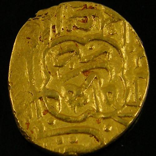ANCIENT ARAB  GOLD 1/2 MITHQAL COIN 930-984 H. APC11