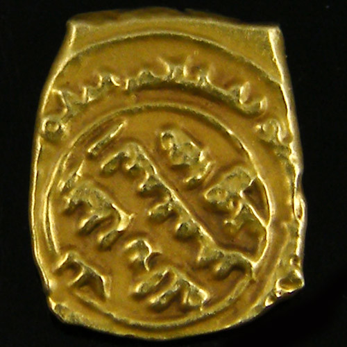 ANCIENT ARAB GOLD FRACTIONAL DINAR COIN 980-982 AD. APC13
