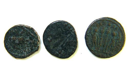 THREE PROVINCIAL ROMAN COINS         OP 683