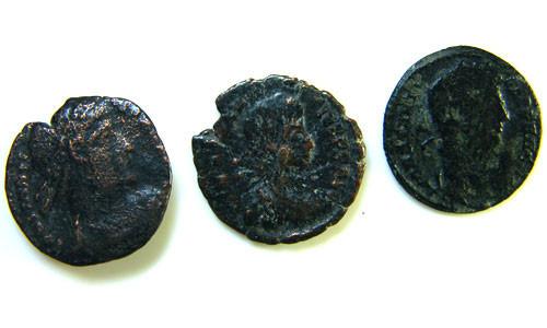 THREE PROVINCIAL ROMAN COINS         OP 684