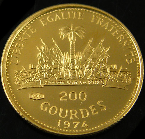 1974 HOLY YEAR 200 GOULDES GOLD COIN   CO 704