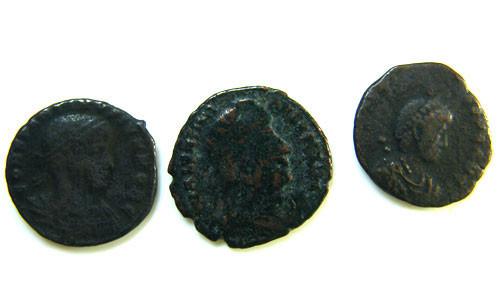THREE PROVINCIAL ROMAN COINS         OP 688