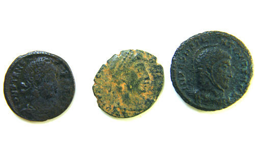 THREE PROVINCIAL ROMAN COINS         OP 690