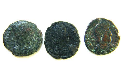 THREE PROVINCIAL ROMAN COINS         OP 689