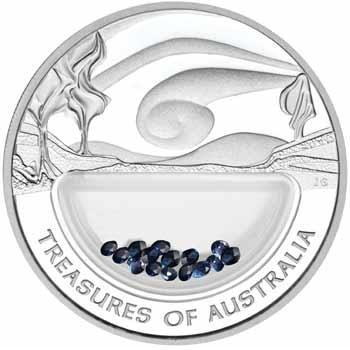 NOT FOR SALE4  -2007  TREASURES  SAPPHIRE LOCKET SILVER COIN