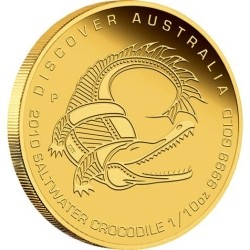 Discover Australia 2010 Saltwater Crocodile1 /10oz Gold Coin