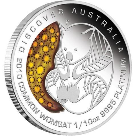 Discover Australia 2010 Dreaming – Wombat,1 /10oz Platinum