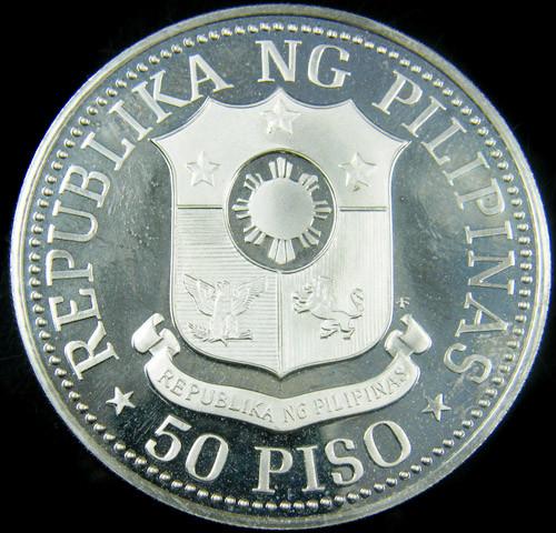 PROOF 1975 SILVER 50 PESOS PHILIPINO COIN CO 728