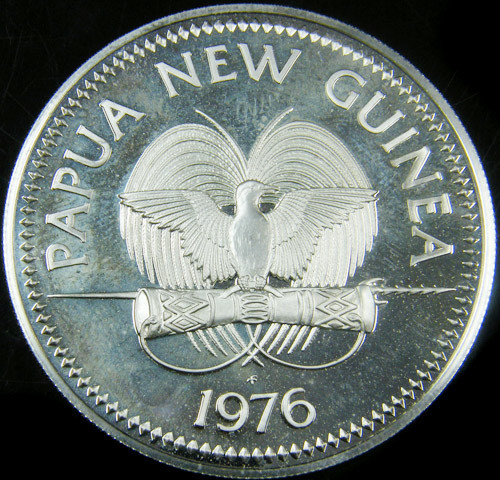 PROOF PAPUA NEW GUINES 10 K SILVER COIN CO 731